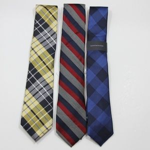 3 NEW Tommy Hilfiger Silk Ties M875